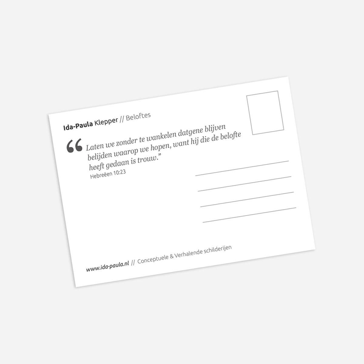 Ansichtkaart 'Beloftes'