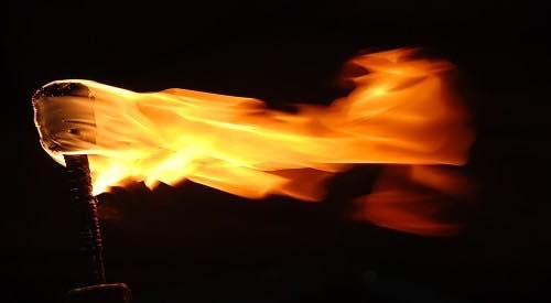 Brandende fakkels