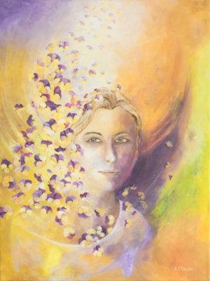 Schilderij 'Vrede' door Ida Klepper