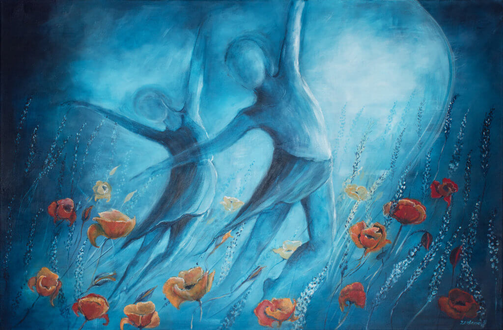 Schilderij 'Vreugdedans' door Ida Klepper