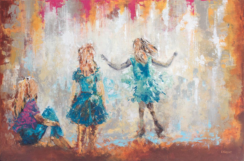 Schilderij 'De Late Regen' door Ida Klepper